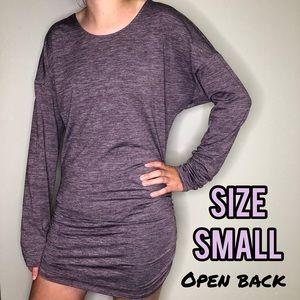 Open back purple sexy dress